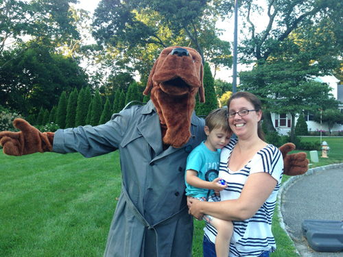 PAUL SQUIRE PHOTO | McGruff the Crime Dog poses for a photo as part of National Night Out.