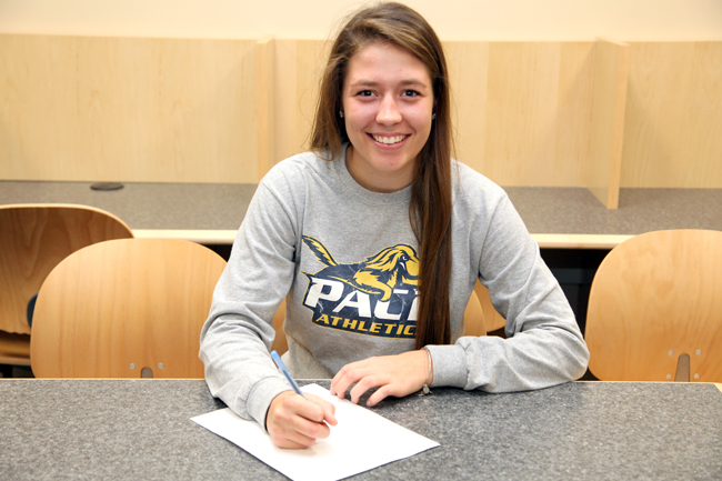 Riverhead senior Amanda Dickerson will play lacrosse at Pace University next year. (Credit: Riverhead School District)