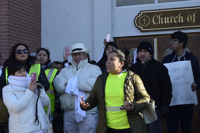 Paola Zuniga of Flanders, a member of SEPA Mujer, the group that organized the march in Hampton Bays.