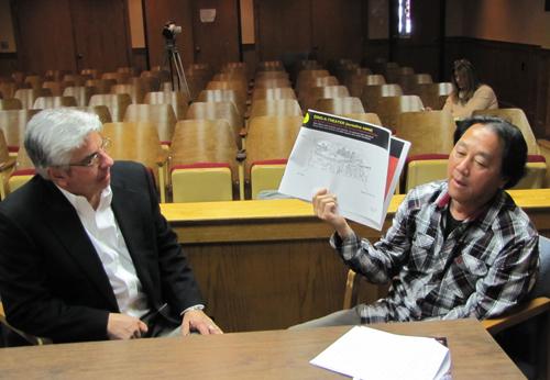 Bob Castaldi, left, and RIck Takemoto at Thursday's meeting. (Photo by Tim Gannon)
