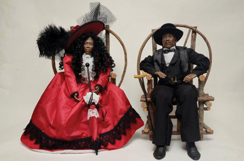 Suffolk County Historical Society's 'Black History Through the Eyes of Dolls' will be on display through March 7. (Courtesy photo)