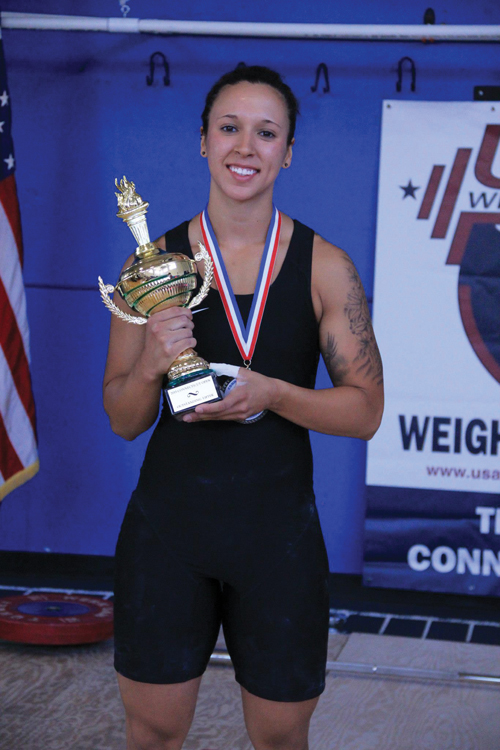 Erika Moncada was awarded the Best Female Lifter award. (Credit: )