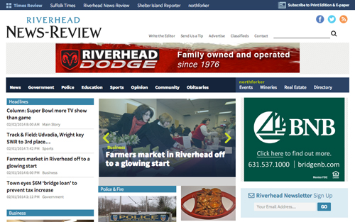 Riverhead News Review redesign