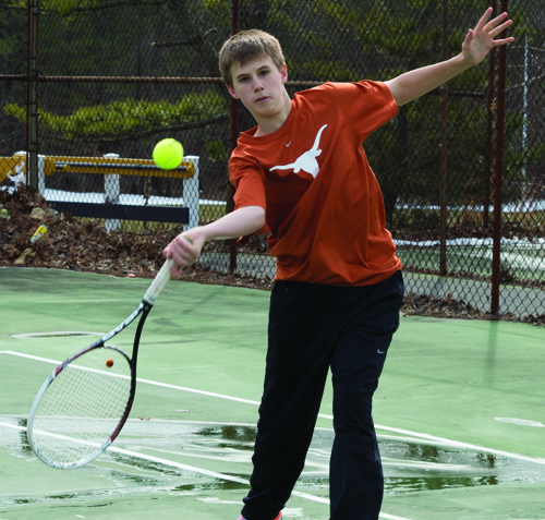 ROBERT O'ROURK PHOTO | Shoreham-Wading River's Chris Kuhnle, a freshman in his third varsity year, fell one win shy of qualifying for the state tournament in 2012.