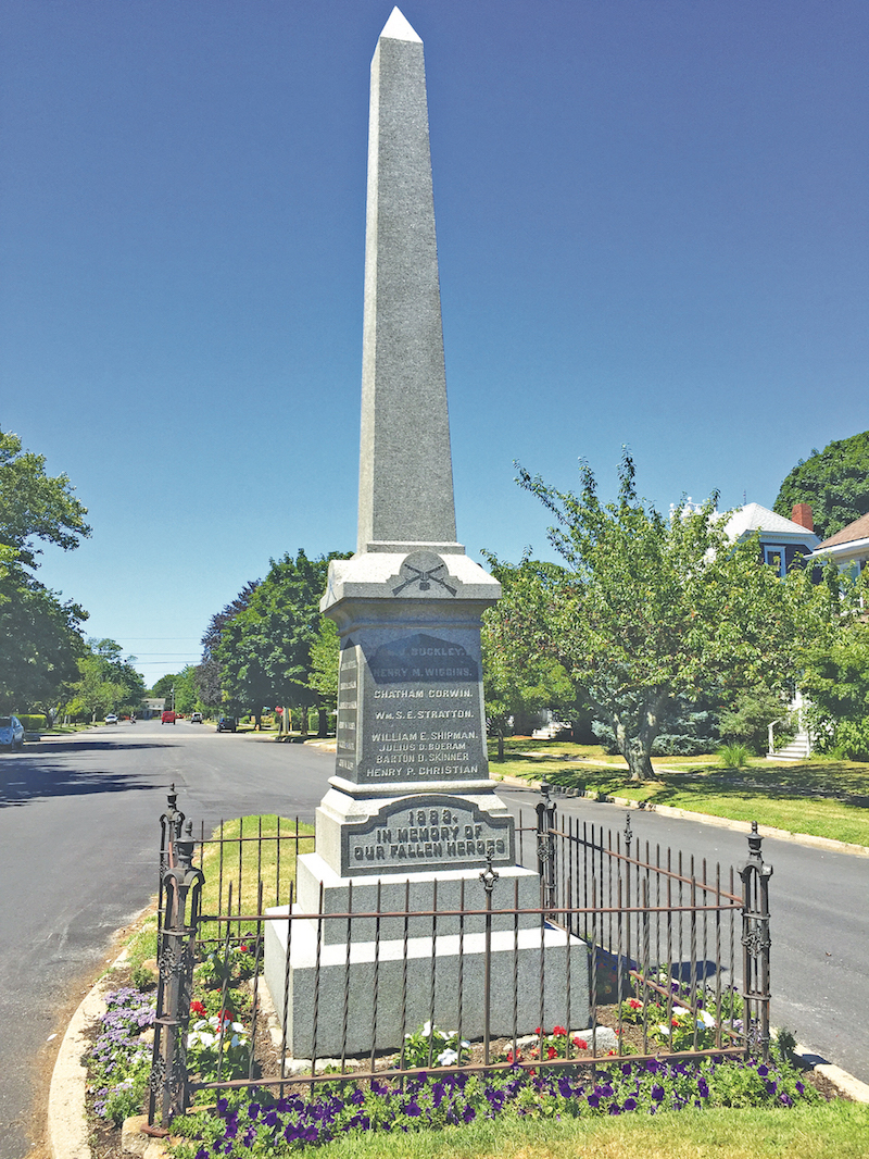 The Civil War memorial in Greenport.