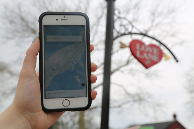 As ride-hailing apps like Uber become more popular, North Fork lags